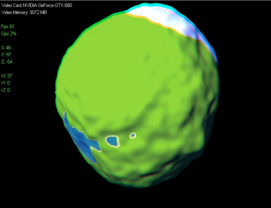 procedurally generated volumetric planets